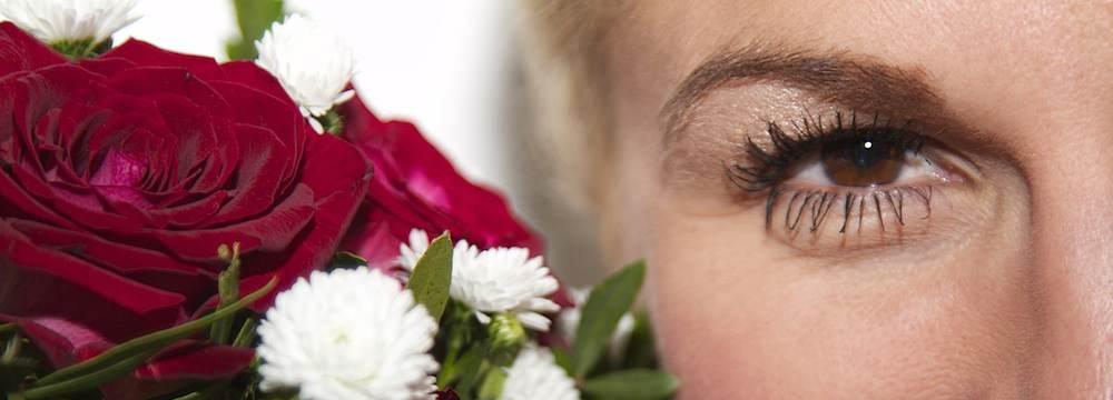 Braut und Brautstrauß